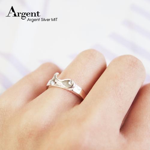 小魚可愛動物造型雕刻純銀戒指|戒指推薦