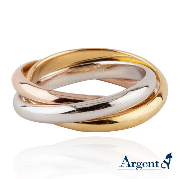 三環三色戒簡約設計造型14K金戒指|戒指推薦