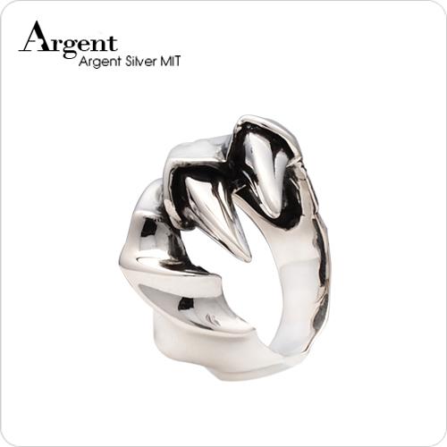 大龍爪造型設計雕刻純銀戒指|戒指推薦