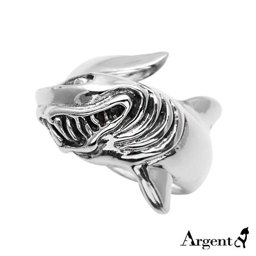 「惡鯊」動物造型雕刻純銀戒指|戒指推薦