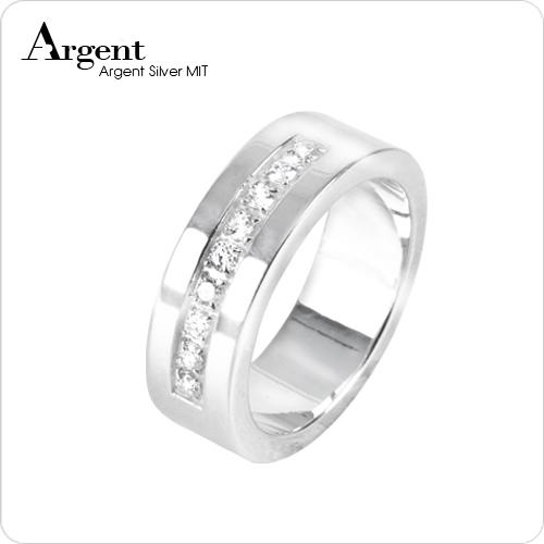「星河」寬版排鑽設計純銀戒指|戒指推薦
