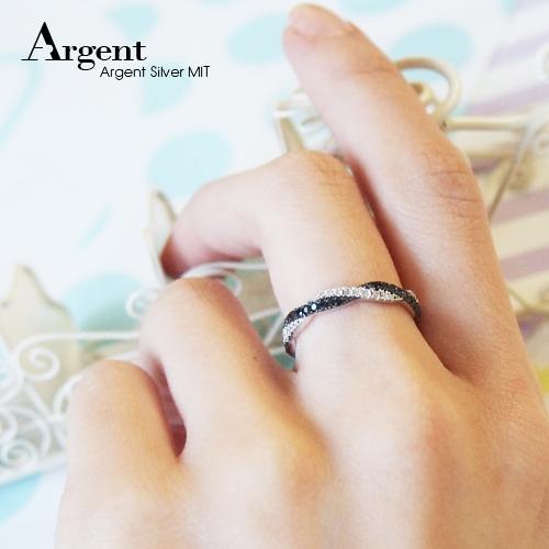 安爵銀飾-纏綿戒指-白K金