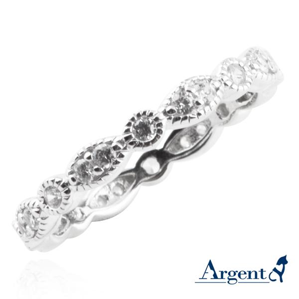 優雅花邊造型雕刻純銀戒指|戒指推薦