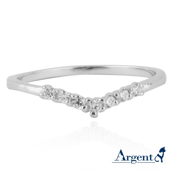 安爵銀飾-「深愛」-白K金-純銀戒指