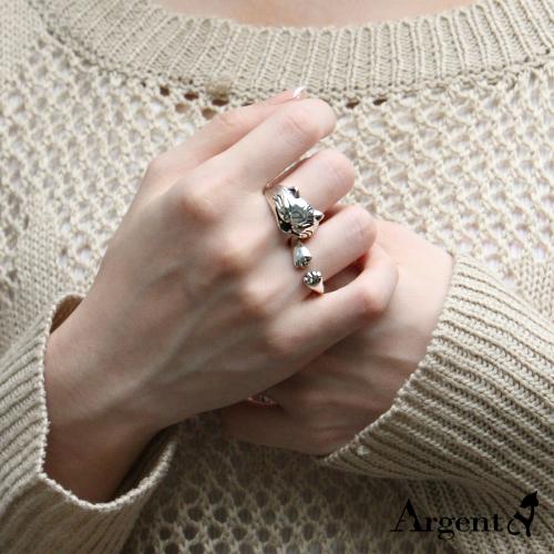 開心貓+貓爪動物造型純銀戒指|戒指推薦