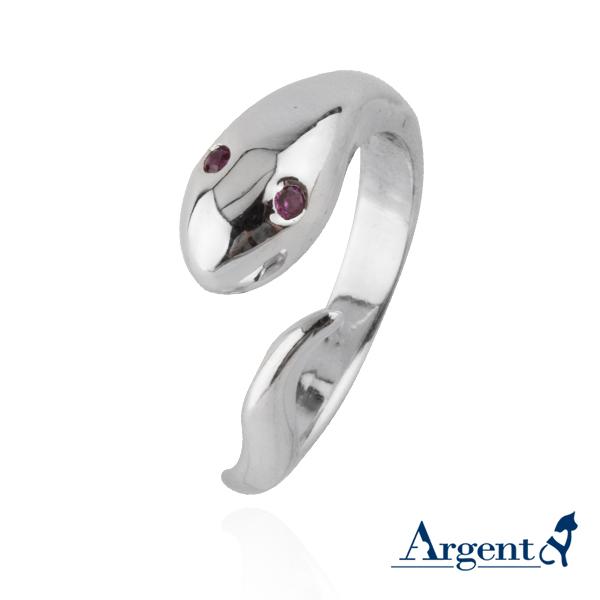 「蛇」動物造型雕刻純銀戒指|戒指推薦