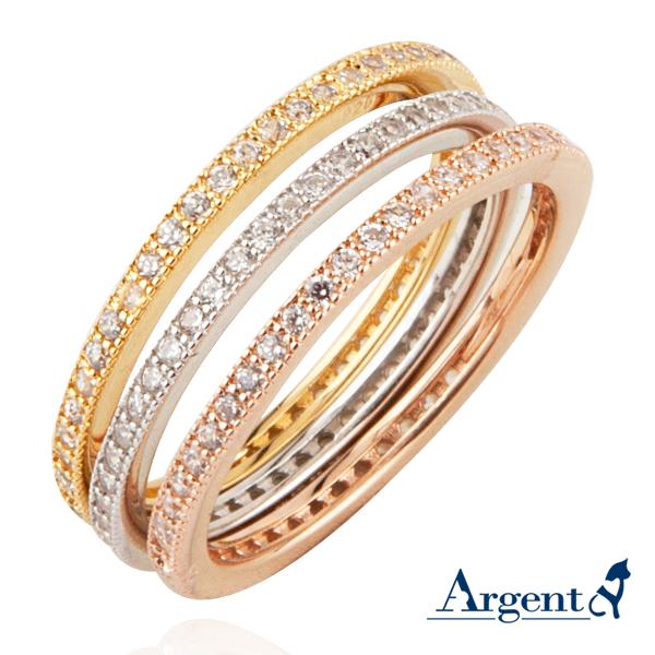 安爵銀飾-環鑽戒指
