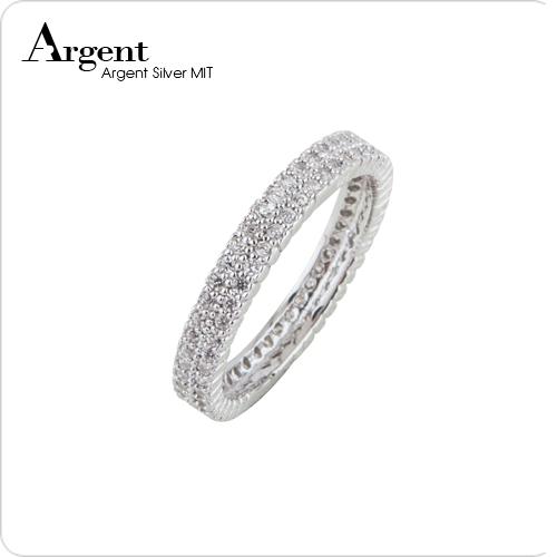 「排鑽」華麗鑲嵌純銀戒指|戒指推薦