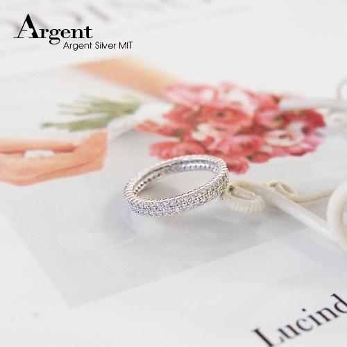 「排鑽」華麗鑲嵌純銀戒指 戒指推薦
