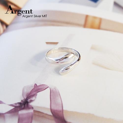 水滴設計簡約造型純銀戒指|戒指推薦
