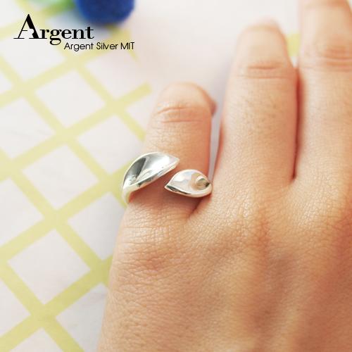 「葉戀」簡約鏡面造型純銀戒指|戒指推薦