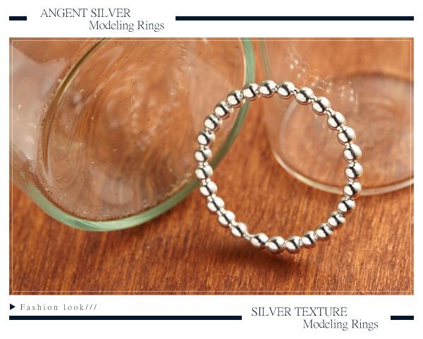 安爵銀飾-連珠純銀戒指