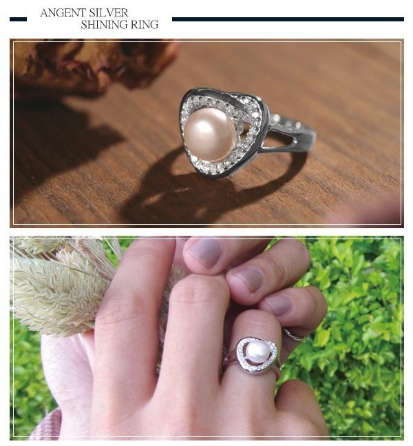 「心珠」微鑲鋯石造型純銀戒指|戒指推薦