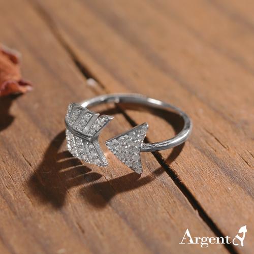 「鑽矢」鋯石造型純銀戒指|戒指推薦