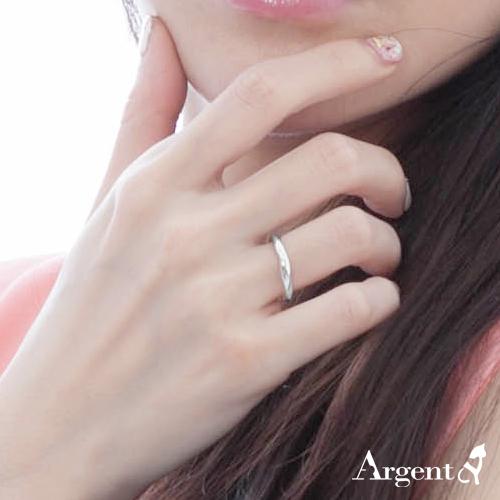「炫愛」(女款/3mm)純銀戒指|925銀戒推薦1