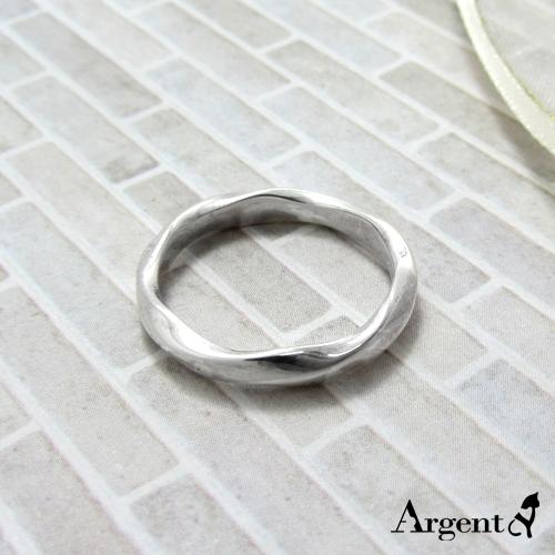 「炫愛」(女款/3mm)純銀戒指|925銀戒推薦2