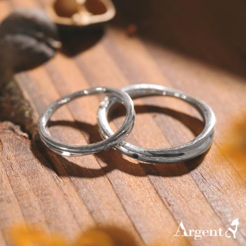 熱情擁抱鑲鑽情人純銀對戒銀飾|情侶對戒推薦