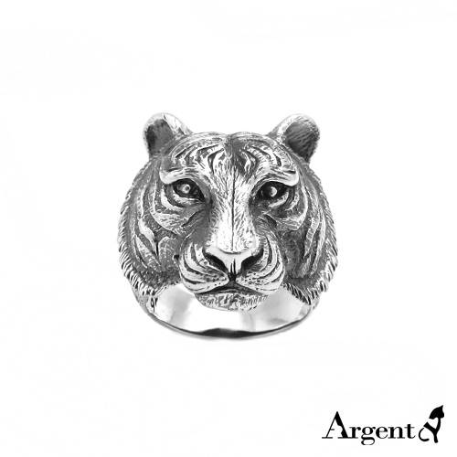 Tiger animal sculpture engraving sterling silver ring | ring recommended