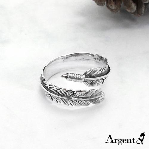 「羽翼」造型活圍設計純銀戒指|戒指推薦