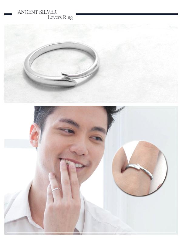流情(無鑽) 造型纯银戒指|925银饰戒指推荐