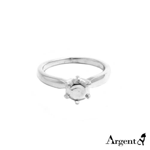 「弧線」簡約寬版造型純銀戒指|戒指推薦