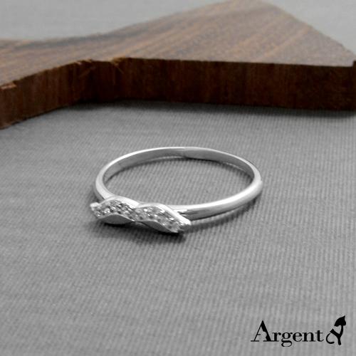晶鑽翹鬍可愛造型純銀戒指|戒指推薦