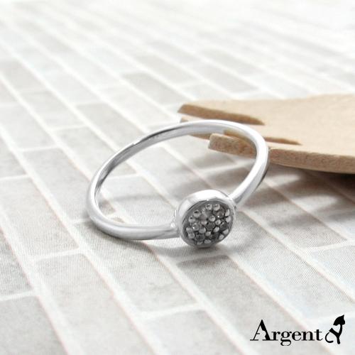晶鑽圓滴雕刻純銀戒指|戒指推薦
