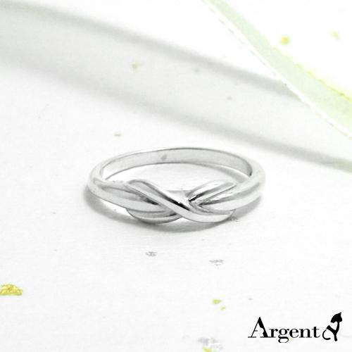 「交錯」造型純銀戒指|925銀飾戒指推薦