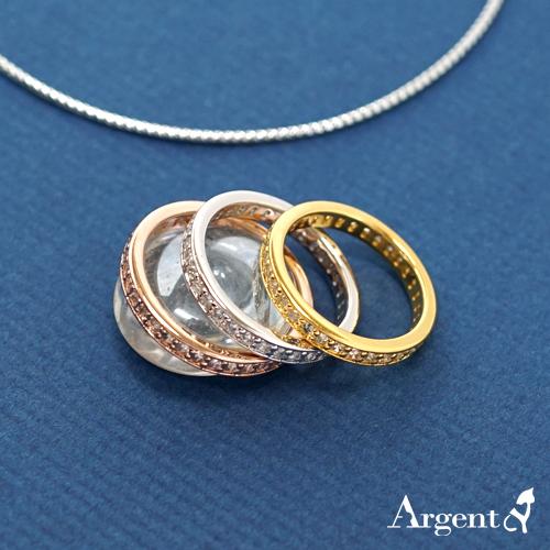 「軌跡」電鍍雕刻鑲嵌純銀戒指|戒指推薦