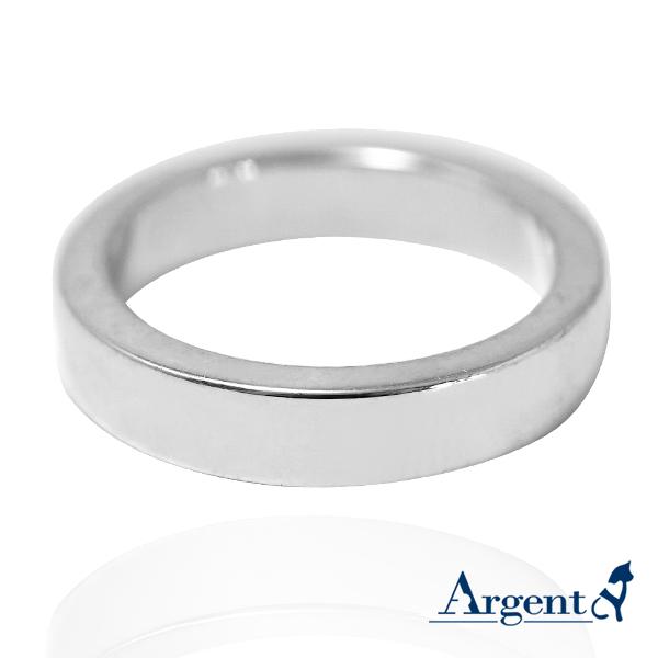 基本款簡約-4mm純銀戒指|925銀飾戒指推薦