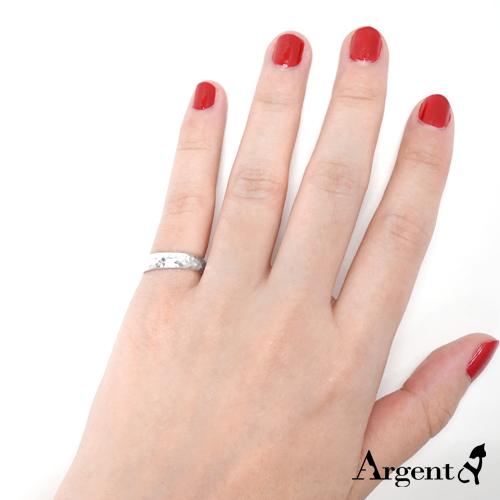 素雅烙印手工純銀戒指|925銀飾戒指推薦