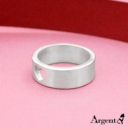Carving heart empty carving silver ring | 925 silver ring recommended