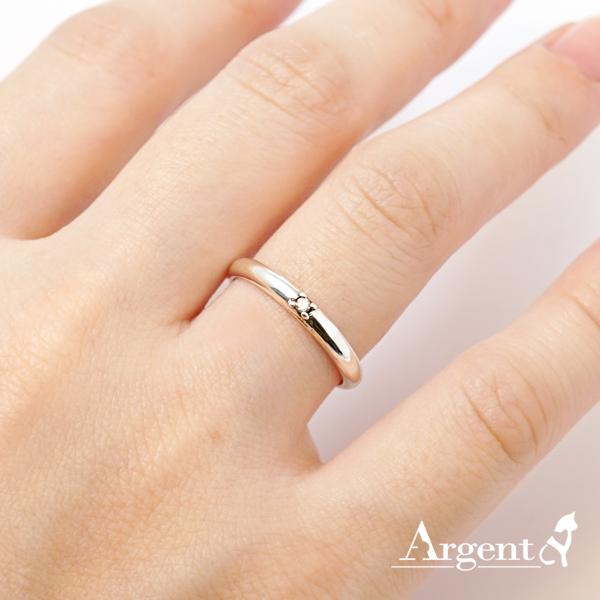 「專情」白鑽素雅純銀戒指|戒指推薦