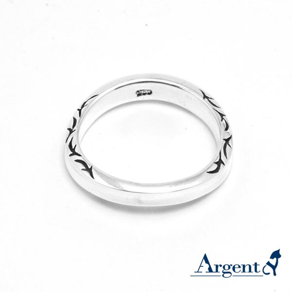 「迷情」圖紋(男)純銀戒指|戒指推薦
