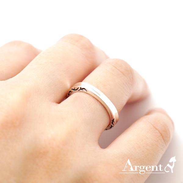 「迷情」圖紋女生小純銀戒指|戒指推薦