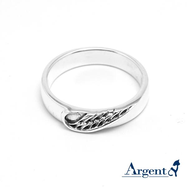 「心翼」造型男生大純銀戒指|戒指推薦