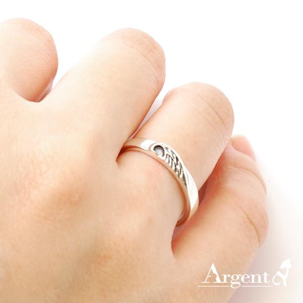 「心翼」造型女生小純銀戒指|戒指推薦