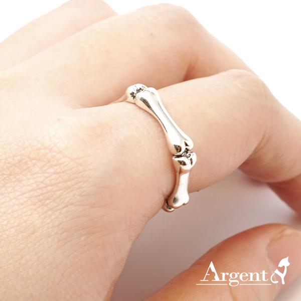 「骨愛」造型男生大純銀戒指|戒指推薦