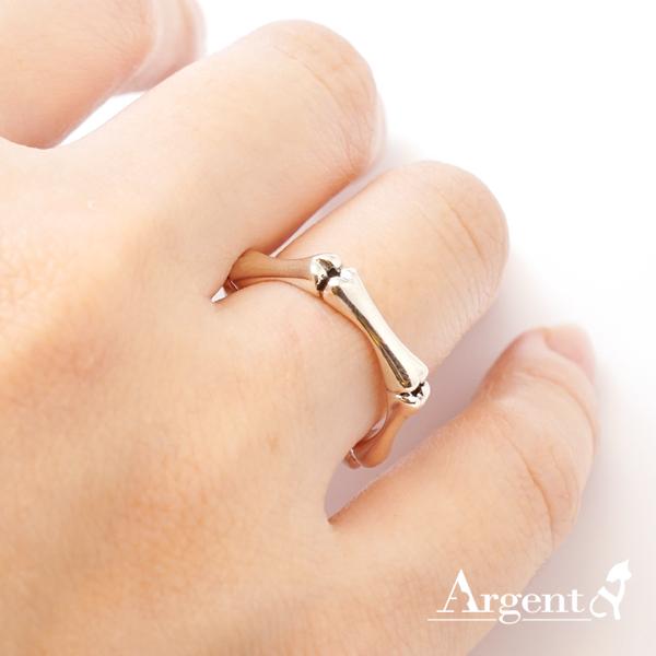 「骨愛」造型女生小純銀戒指|戒指推薦