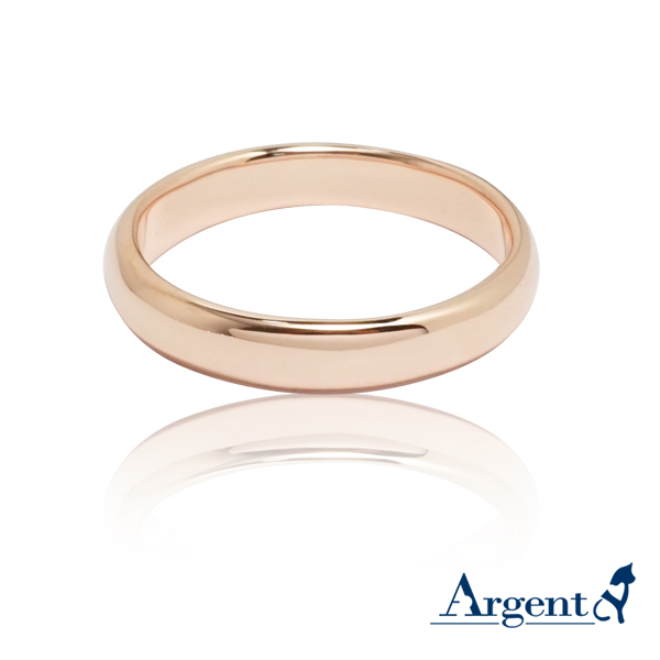素雅(3mm)8k玫瑰金戒指推薦|k金戒指