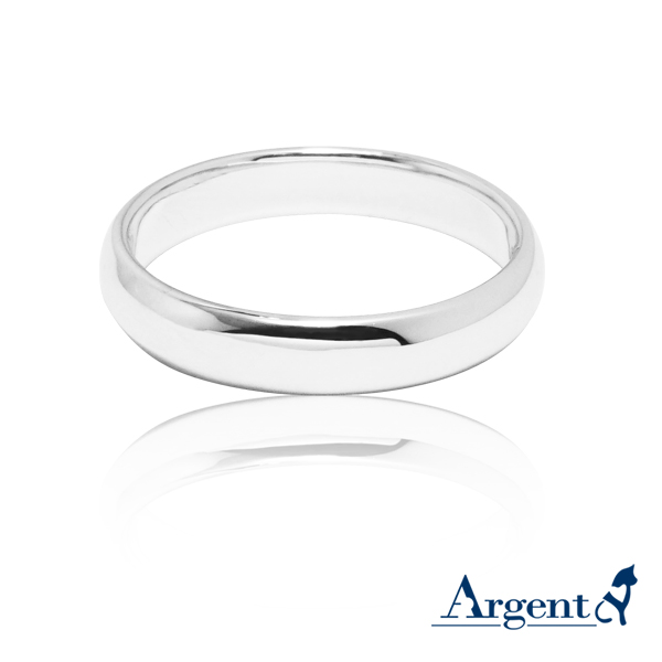 素雅(4mm)14K白k金戒指推薦|k金戒指