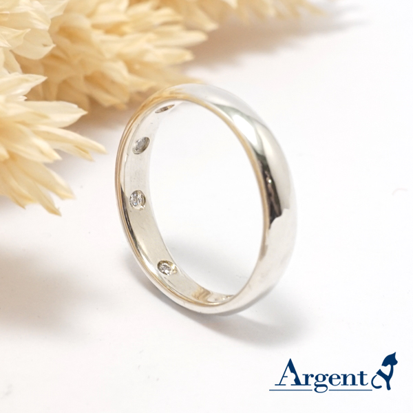 Nine diamonds Tibetan silver elegance pure silver ring | ring recommended