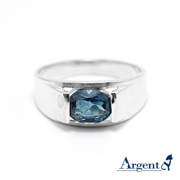 彩晶摯情天然寶石純銀戒指|戒指推薦