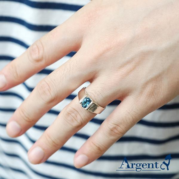 彩晶真情天然寶石純銀戒指|戒指推薦