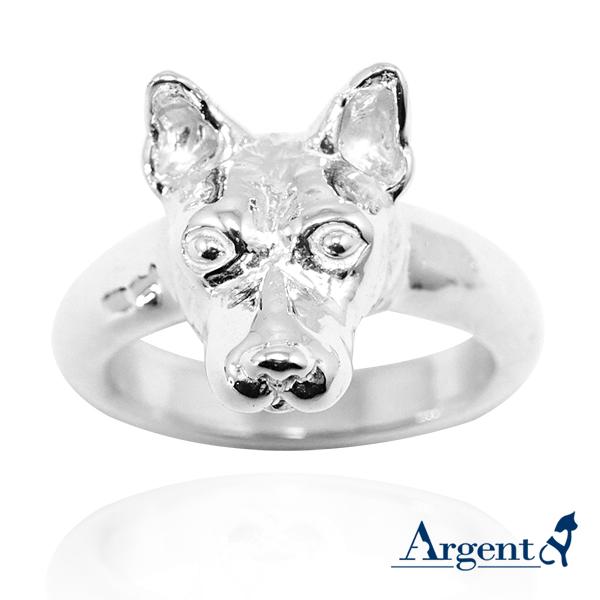 台灣犬動物造型雕刻純銀戒指|戒指推薦
