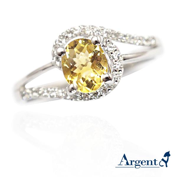 彩晶曲線-黃水晶天然寶石純銀戒指|戒指推薦