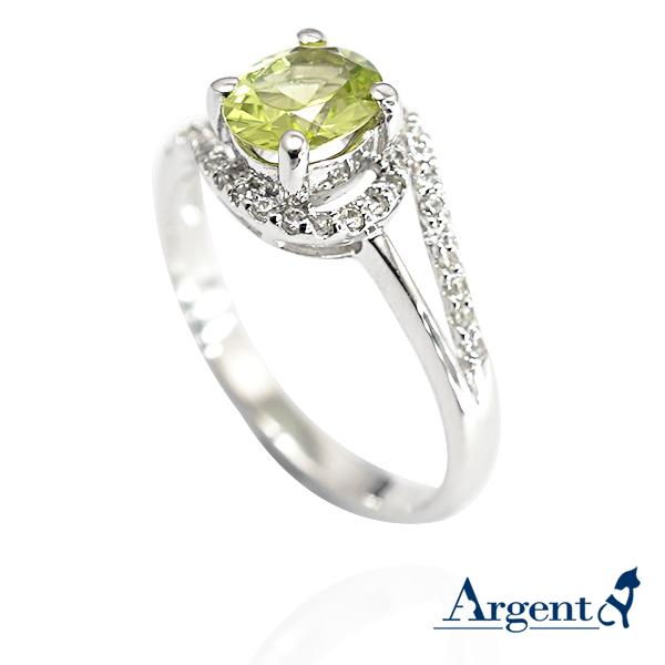 彩晶曲線-璧璽天然寶石純銀戒指|戒指推薦
