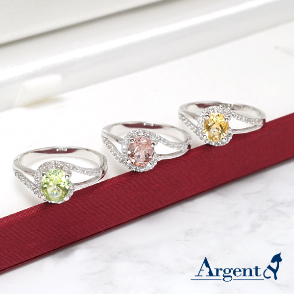 彩晶曲線天然寶石純銀戒指|戒指推薦