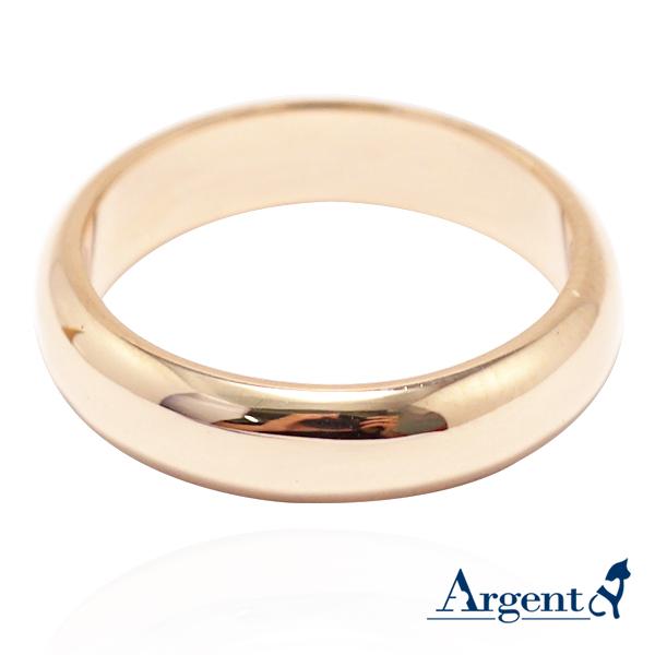 素雅(4mm)18k玫瑰金戒指推薦|k金戒指