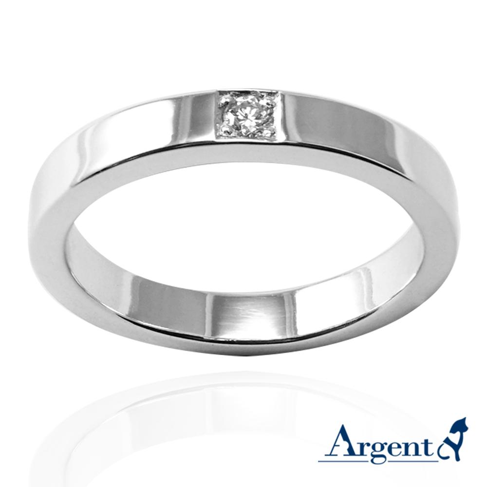 「永恆-寬(3.6mm)」鑲鑽造型設計K金真鑽戒指|戒指推薦